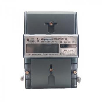 Счетчик электроэнергии однофазный со встр. модулем LoraWan Меркурий 206 Вега-Абсолют, с реле