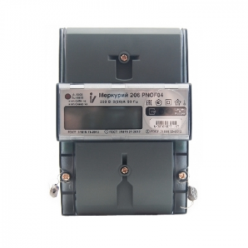 Счетчик электроэнергии однофазный со встр. модулем LoraWan Меркурий 206 PNOF07