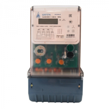 Счетчик электроэнергии трехфазный многотарифный ЦЭ2727А RF, 5(60)А, IP51, корпус B04, оптопорт, реле