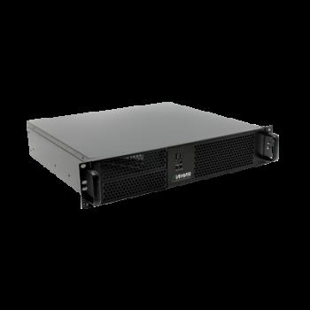 Видеосервер Линия NVR 16-2U Linux для IP-видеокамер. Количество каналов: видео - 16, аудио - 16, до 4 HDD, до 2 мониторов