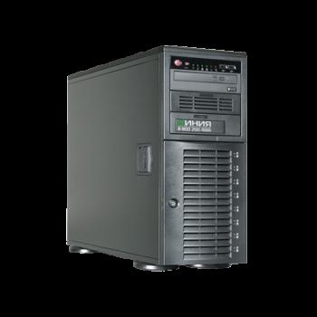 Видеосервер Линия NVR-48 SuperStorage для IP-видеокамер. Количество каналов: видео - 48, аудио - 48, до 8 HDD, до 2 мониторов.