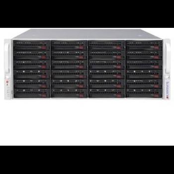 Комплексное программно-аппаратное решение по организации хранения архива Линия SAN 24 х SAS. 24 HDD, 144 Тб(без Raid), 126 Тб(Raid z), 72 Тб(Raid 10)