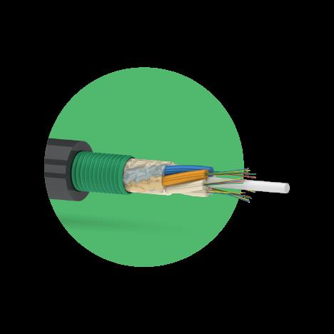 Кабель оптический ОКК 12 G.652D (1х8)(1х4) 2,7кН