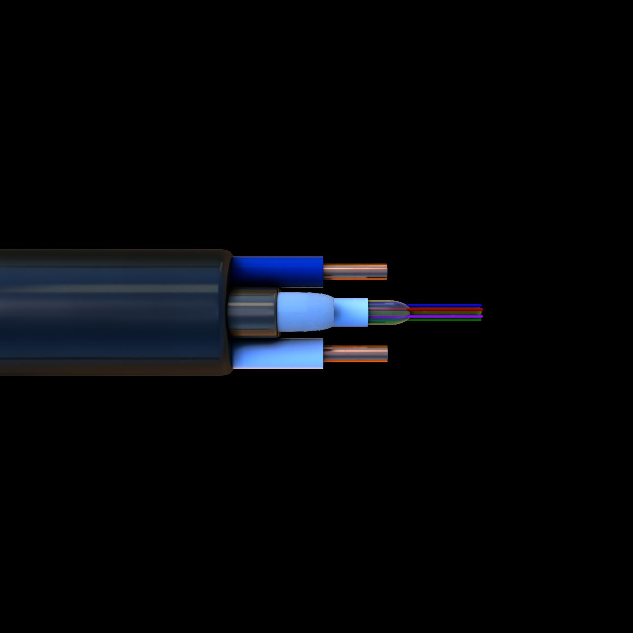 Кабель оптический СЛ-ОЭК-ПЦ-(1Е2-1,5)+2х0,5