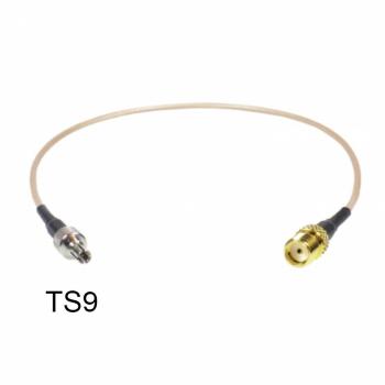 Кабельная сборка 0.15M RG-316U CRC9male(121L) SMAfemale с гайкой(S-231L GGT)