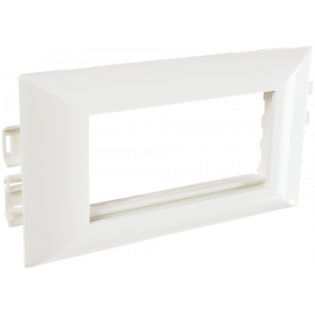 Суппорт с рамкой на 2 поста (45х45) в профиль для кабельных каналов 100х50, 105х50