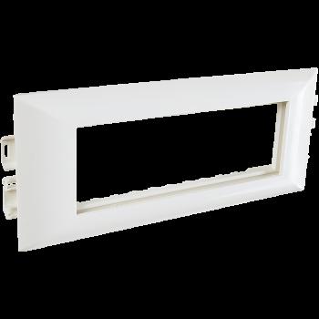 Суппорт с рамкой на 3 поста (45х45) в профиль для кабельных каналов 100х50, 105х50