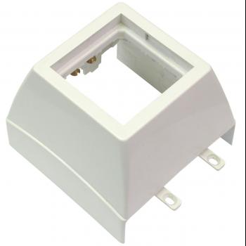 Суппорт с рамкой 1 пост (45х45) на профиль для кабельных каналов 100х50, 105х50