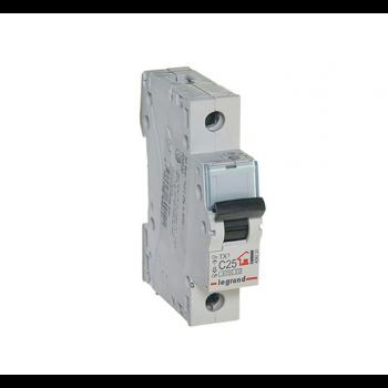 Выключатель автоматический модульный 1п C 25А 6кА TX3 Leg 404030