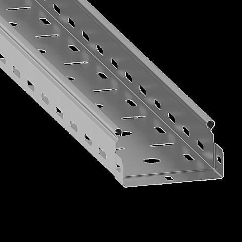 Лоток перфорированный 50х50 L=6м S=0.7мм оцинк. ASD-electric