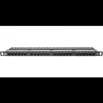 Патч-панель 19 дюймовая неэкранированная LANsens высокой плотности, Cat. 5E, 0.5U, 24 порта