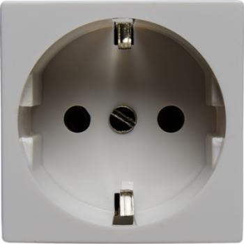 Розетка электрическая 2К+З (белый)