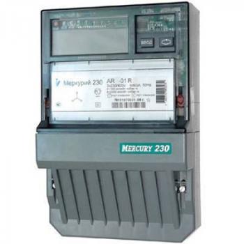 "Счетчик ""Меркурий"" 230 AR-03 CLN 3ф 5-7.5А 0.5s/1.0 класс точн. многотариф.; CAN PLCI ЖКИ Моск. вр."