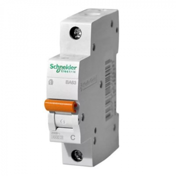 Выключатель автоматический модульный 1п C 16А 4.5кА ВА63 Домовой SchE 11203