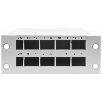 Пластиковая кассета для оптических распределительных коробок 16 портов SC