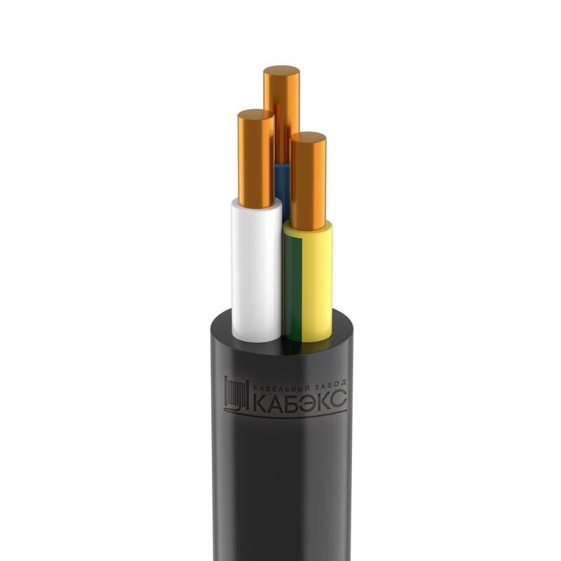 Кабель ВВГнг(А)-LS 3х1.5 ок (N PE) 0.66кВ (м) Кабэкс ТХМ00130578