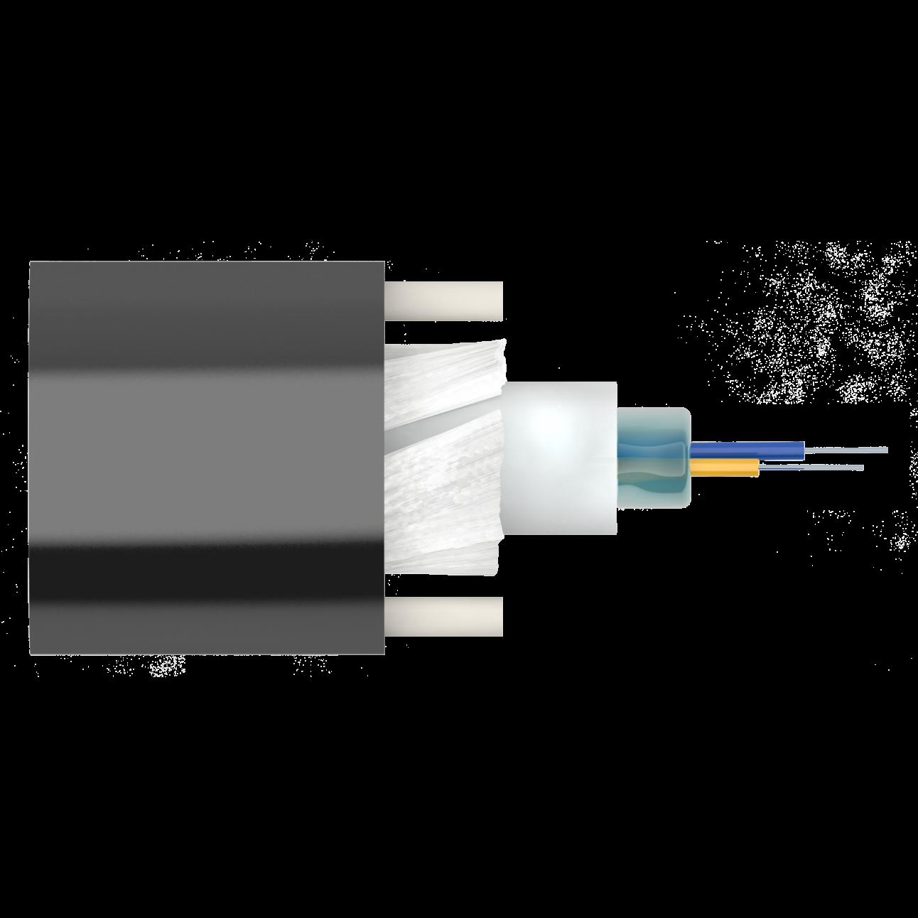 Кабель оптический Alpha Mile Микро ADSS, 02 волокна