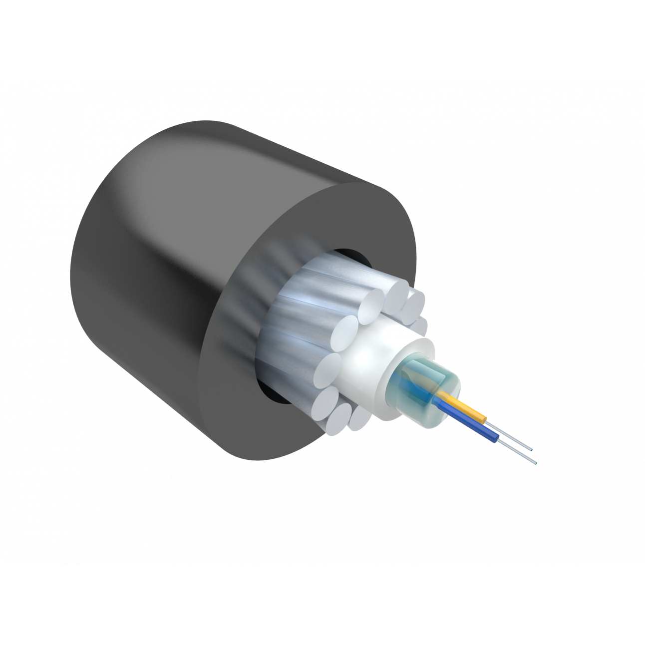 Кабель оптический Alpha Mile для канализации, 02 волокна