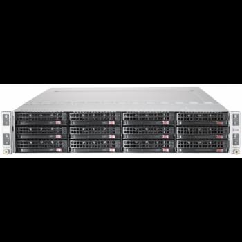 Сервер Supermicro 6026TT-BTRF, 8 процессоров Intel Xeon 4C L5520 2.26GHz, 96GB DRAM