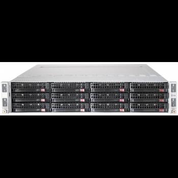 Сервер Supermicro 6027TR-DTRF, 4 процессора Intel Xeon 8C E5-2650v2 2.60GHz, 64GB DRAM