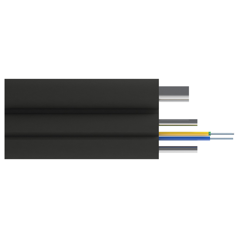 Кабель оптический Alpha Mile FTTx, с дополнительным несущим элементом (проволока 1.0 мм), 4 волокна