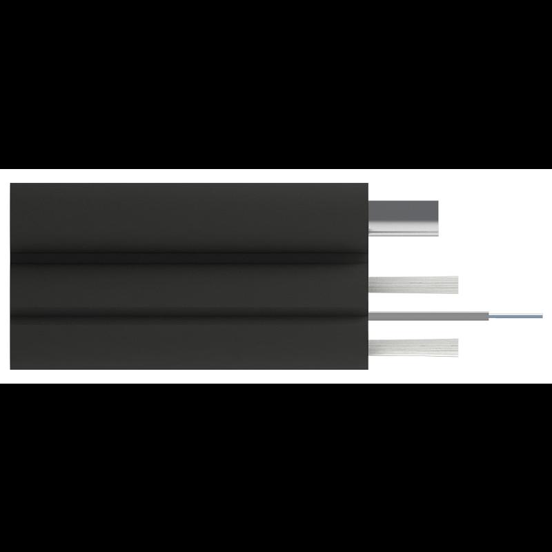 Кабель оптический Alpha Mile Flex FTTx, с дополнительным несущим элементом (проволока 1.0 мм), 1 волокно