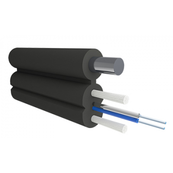 Кабель оптический Alpha Mile Flex FTTx, с дополнительным несущим элементом (проволока 1.0 мм), 2 волокна