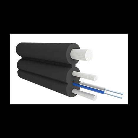 Кабель оптический Alpha Mile Flex FTTx, с дополнительным несущим элементом (FRP 1.0 мм), 02 волокна