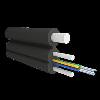Кабель оптический Alpha Mile Flex FTTx, с дополнительным несущим элементом (FRP 1.0 мм), 04 волокна