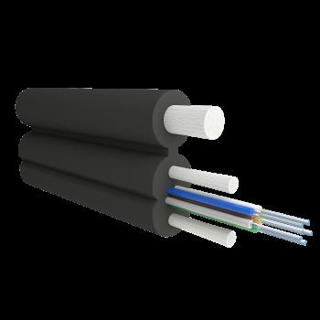 Кабель оптический Alpha Mile Flex FTTx, с дополнительным несущим элементом (FRP 1.0 мм), 06 волокон