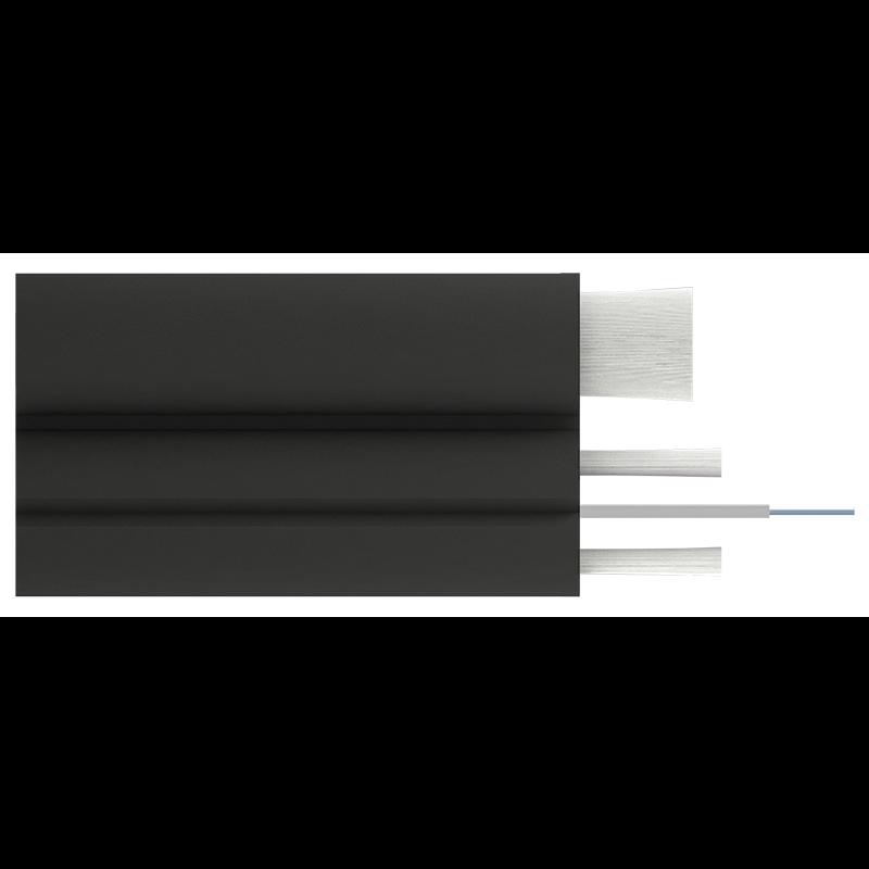 Кабель оптический Alpha Mile Flex FTTx, с дополнительным несущим элементом (FRP 1.8 мм), 01 волокно