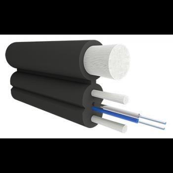 Кабель оптический Alpha Mile Flex FTTx, с дополнительным несущим элементом (FRP 1.8 мм), 02 волокна
