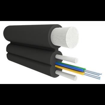 Кабель оптический Alpha Mile Flex FTTx, с дополнительным несущим элементом (FRP 1.8 мм), 04 волокна