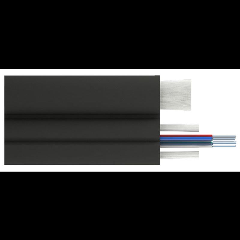 Кабель оптический Alpha Mile Flex FTTx, с дополнительным несущим элементом (FRP 1.8 мм), 08 волокон