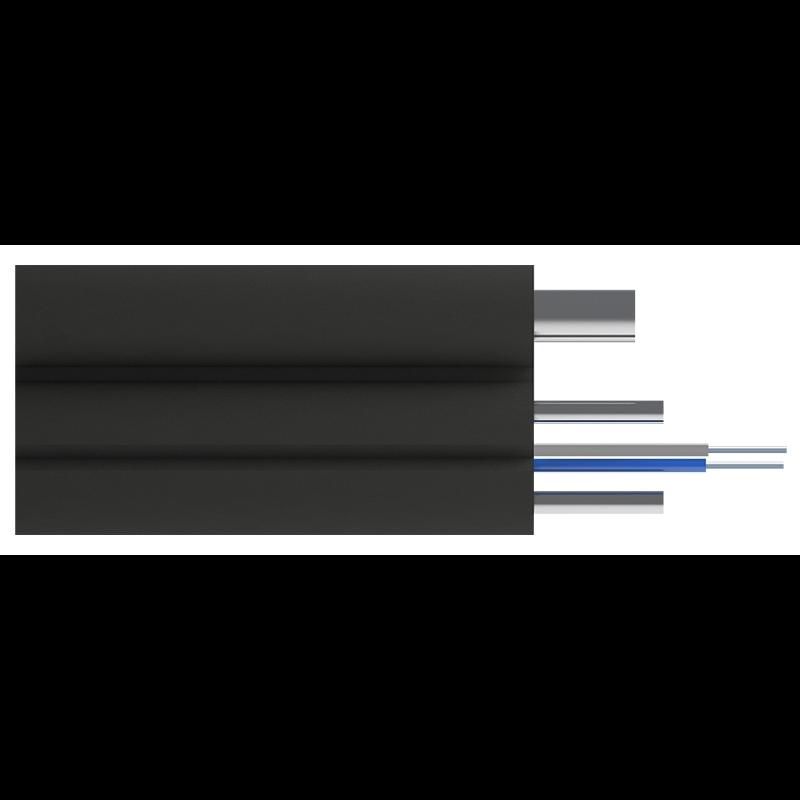 Кабель оптический Alpha Mile Flex FTTx, с дополнительным несущим элементом (проволока 1.0 мм), 2 волокно 657A1