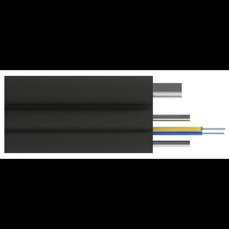 Кабель оптический Alpha Mile Flex FTTx, с дополнительным несущим элементом (проволока 1.0 мм), 4 волокна 657A1