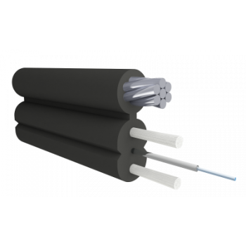 Кабель оптический Alpha Mile Flex FTTx, с дополнительным несущим элементом (трос 1.2 мм), 1 волокно 657A2