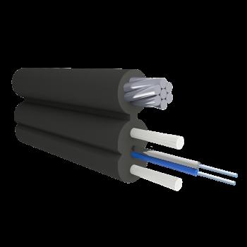 Кабель оптический Alpha Mile Flex FTTx, с дополнительным несущим элементом (трос 1.2мм), 2 волокна 657A2
