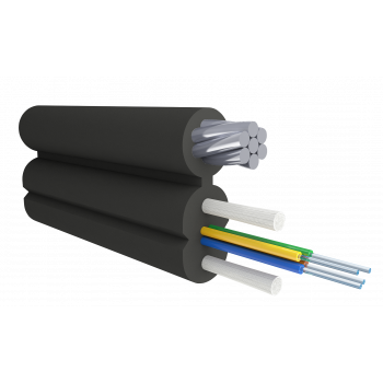 Кабель оптический Alpha Mile Flex FTTx, с дополнительным несущим элементом (трос 1.2 мм), 4 волокна 657A2