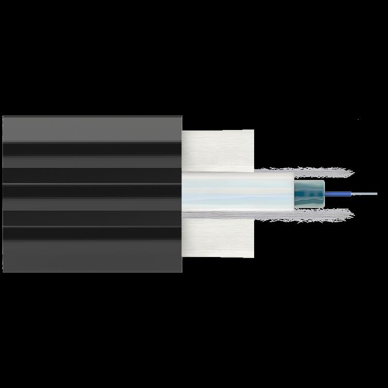 Кабель оптический Alpha Mile Микро Flat DROP, 1 волокно