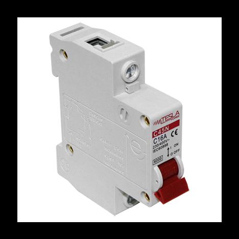 Автоматический выключатель Tesla Power 1Р 16А 4,5 кА х-ка С