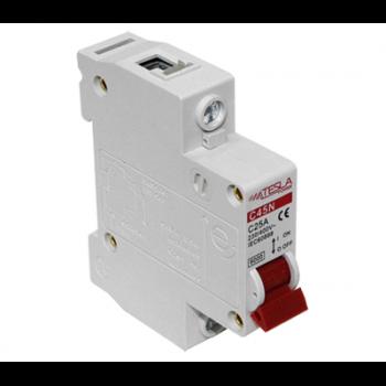 Автоматический выключатель Tesla Power 1Р 25А 4,5 кА х-ка С
