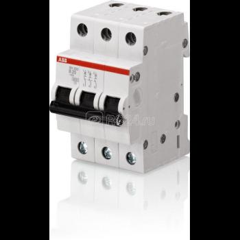Выключатель автоматический модульный 3п C 63А 6кА S203 ABB 2CDS253001R0634