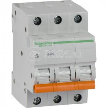 Выключатель автоматический модульный 3п C 20А 4.5кА BA63 Домовой SchE 11224