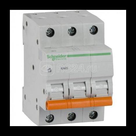 Выключатель автоматический модульный 3п C 25А 4.5кА BA63 Домовой SchE 11225