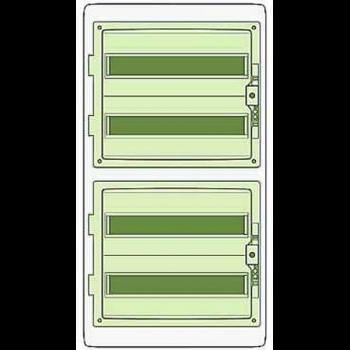 Бокс ОП Kaedra 72мод (4 ряда по 18мод) сер, с прозр дверью IP65 SchE 13987