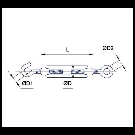 Талреп Alpha Mile DIN 1480 (О+С) M8