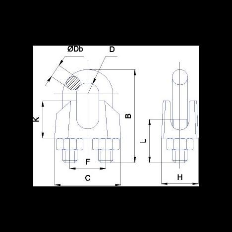 Зажим для троса Alpha Mile DIN741 8мм