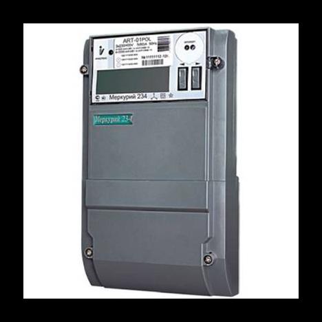 """Счетчик """"Меркурий"""" 234 ART-01 PO 3ф 5-60А 1.0/2.0 класс точн. многотариф. оптопорт RS485 ЖКИ физ. лица Екат. вр."""