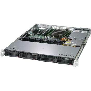 """Платформа Supermicro 1U AS-1013S-MTR, До одного процессора AMD Epyc 7002, DDR4, 4x3.5"""" SATA HDD, 2x1GBase-T"""